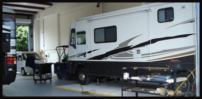 RV Inside Repair Bay in Clearwater, FL